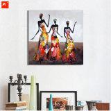 Картина маслом женщины абстрактного самомоднейшего танцы африканская