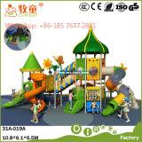 Conjunto de playground ao ar livre com slide Swing (WOP-046B)