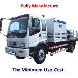 Pompe concrète portative diesel/électrique de pompe principale initiale de Kawasaki de fabrication de poulie (HBT50.10.55S)