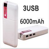 De kleurrijke LEIDENE Mobiele Bank 6000mAh van de Macht met de Giften van de Bevordering 3USB