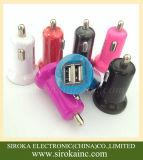 Cargador dual del coche del USB de la venta al por mayor 2 para el teléfono celular