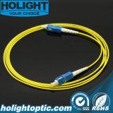 Sc Patchcord оптического волокна к желтому цвету Sc симплексному LSZH