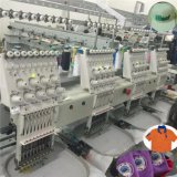 As cabeças japonesas do servo motor 4 computarizaram a máquina do bordado, uso comercial com preço do competidor