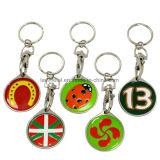 도매 다채로운 모나코 연약한 사기질 금속 Keychain