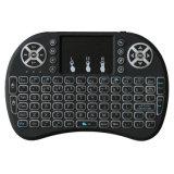 3 teclado puesto a contraluz mini teclado de la radio de los colores I8 sin hilos 2.4G