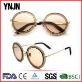 Gafas de sol redondas coloridas de Ynjn marca sus los propios