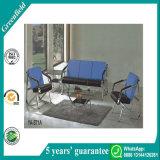 青く絶妙なオフィス用家具のソファーの現代居間の家具のホテルのレセプションの革ソファー