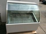 Escaparate refrigerado congelador del helado del pecho de la puerta de vidrio de desplazamiento