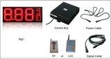 Segno di prezzi di gas dello schermo di visualizzazione del LED del segno di fissazione dei prezzi della stazione di servizio del LED (doppio-fronte esterno d'altezza 10 pollici)