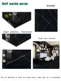 2017 heiße verkaufende neue Entwurfs-neue Produkt-schwarze Marquina glasig-glänzende Keramikziegel-Porzellan-Fliese für Fußboden und Wand