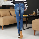 Marea comoda elastica dei vestiti delle 2017 donne calde di vendita che impiomba i jeans scarni