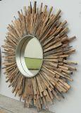 Spezielle Form verwitterter dekorativer Wand-Hauptspiegel (LH-W17034)