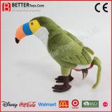 Hornbill mou bourré réaliste de jouet de peluche d'oiseau