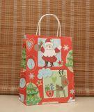 Sacos de papel do presente do Natal, saco de compra de empacotamento