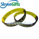Bracelet de silicones de couleur de bracelet de silicones d'impression de logo