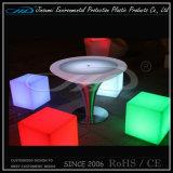 Otomano plástico del cubo del LED con teledirigido