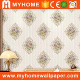 Дешевый цветок белое Wallcovering штофа с порошком обоев