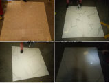 Mattonelle di pietra naturali lustrate in pieno lucidate di marmo bianche del pavimento di sguardo