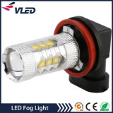 auto luzes de névoa da ampola H11 H16 H3 80W do diodo emissor de luz 12V para o carro