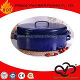 Articolo da cucina ovale dello smalto del girarrosto dello smalto