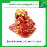 Boîte-cadeau de empaquetage de Noël de faveur de bande faite sur commande de décorations