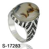 Jóias de moda 925 anel de prata com pedra turquesa