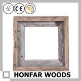 Frame rústico da foto do retrato da madeira contínua do estilo com montagem