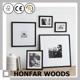 Frame de madeira preto moderno feito sob encomenda da foto do retrato para a decoração da parede