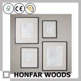 Kundenspezifischer moderner schwarzer hölzerner Abbildung-Foto-Rahmen für Wand-Dekor