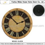 Orologio di parete di legno della decorazione di marchio domestico di Cutomized promozionale