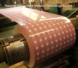 El color hermoso cubierto galvanizó la bobina de acero con diverso modelo