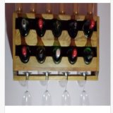 Rek van de Wijn van Upcycled Rustieke het Muur Opgezette, de Houder van de Fles van 10 Wijn