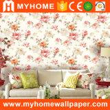 Papier peint imperméable à l'eau Wallcovering des prix de la Chine de vinyle bon marché de PVC
