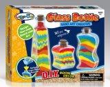 Botella del Juguete-Vidrio del arte de la decoración del sitio de la arena del color de los cabritos DIY creativa