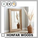 حجم كبيرة خشبيّة مرآة إطار لأنّ غرفة حمّام زخرفة