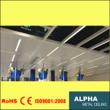 Алюминиевым зажим панели потолка ый металлом в потолке плитки