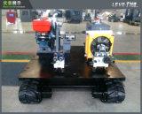 Carro hidratante de transporte de motor com chassi de borracha