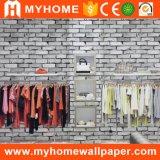 Fournisseur de papier peint de la Chine, papier de mur blanc de la brique 3D des prix bon marché