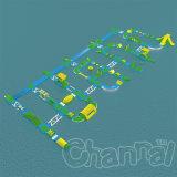 Kundenspezifischer Wasser-Bodenoffensive-aufblasbarer Wasser-Park für Erwachsenen und Kinder