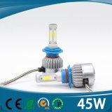 3 CC H1 H4 H7 9005 del kit 3000k 12V del faro della PANNOCCHIA LED dell'aggiornamento dei lati un faro dei 9006 LED