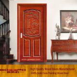 Porte en bois simple interne pour la pièce avec le modèle de fleur (GSP2-061)