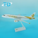 Modello da tavolino di plastica dell'aria 37cm dell'ABS dorato del Airbus A320