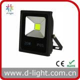 Projector ao ar livre do diodo emissor de luz da microplaqueta 20W da ESPIGA do uso 85-265V IP65 da alta qualidade