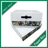 Caixa de papel ondulada que empacota o empacotamento feito sob encomenda da caixa
