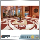 Rote künstliche Quarz-Stein-Kristallplatte für Küche-Fußboden-Fliesen