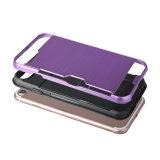 PC TPU 2 da forma em 1 caixa dura híbrida da armadura para a tampa traseira para o iPhone 7 com ranhura para cartão