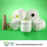Filé tourné par polyester 100% de haute résistance sur le cône de papier