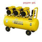 90L 3X550W Oilless beweglicher Schrauben-Kolben-Luftverdichter