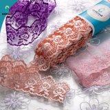 Cordón para los accesorios de la ropa, cordón del algodón de China T/C del bordado