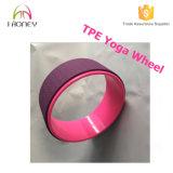 Produit d'exercice Rouleau en mousse Blue Color TPE Yoga Wheel avec tube ABS